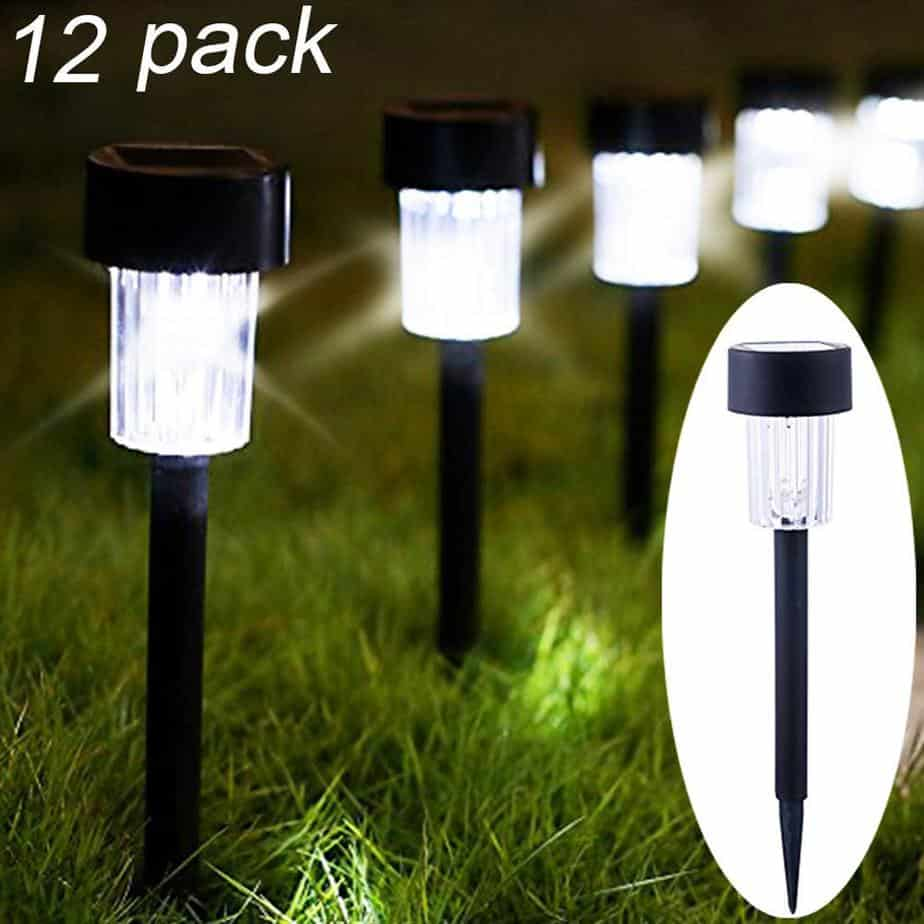​​Maggift 12 Pack Solar Pathway Lights